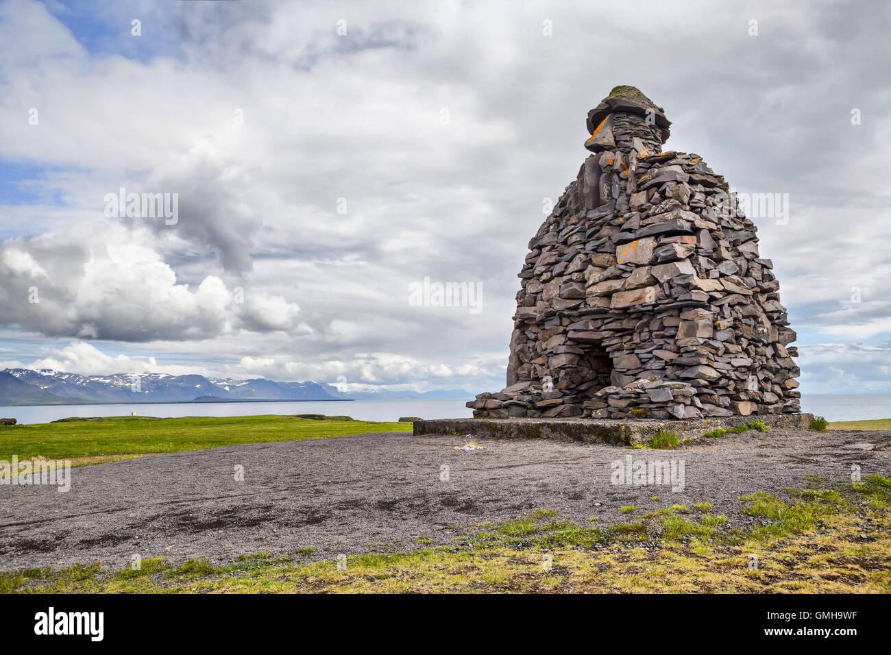 Bardar Saga Snaefellsnes Statue, west Iceland - Stock Image