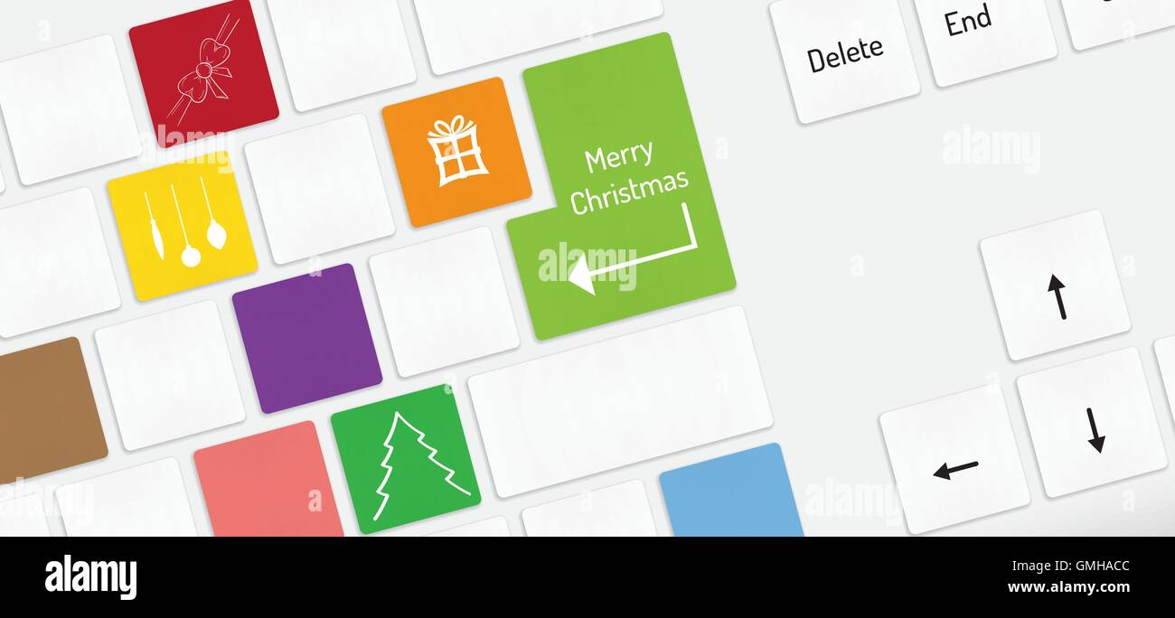 Computer Keyboard Christmas Tree Key Stock Photos Computer
