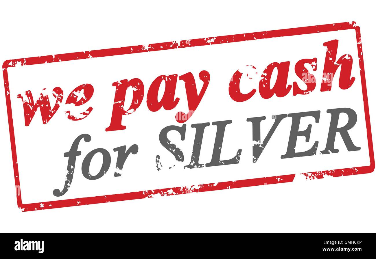 We pay cash for silver Stock Vector Art & Illustration, Vector Image ...