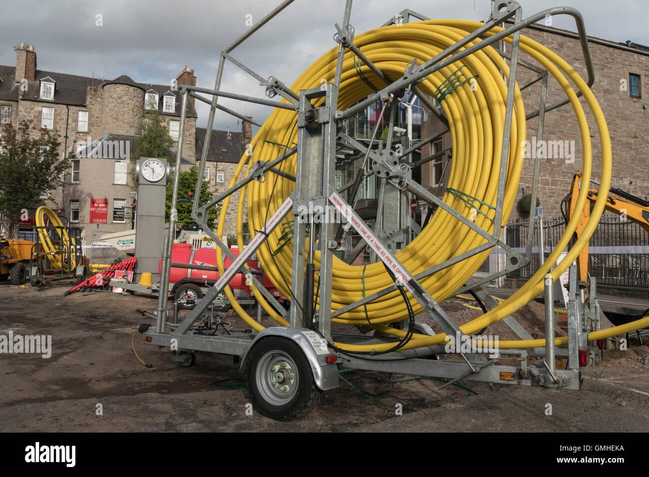 Public realm improvement works at Horsecross,Perth,Perthshire,Scotland,UK, - Stock Image