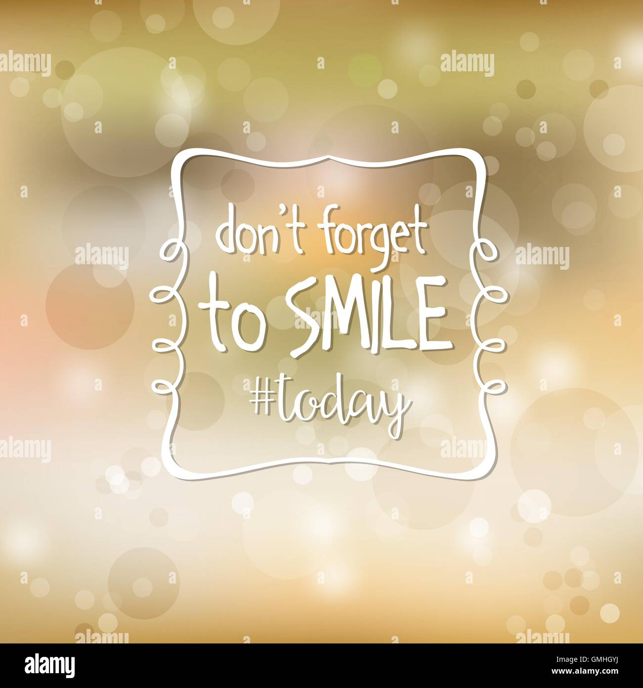 Inspirational Quote Dont Forget To Smile Today Stock Vector Art