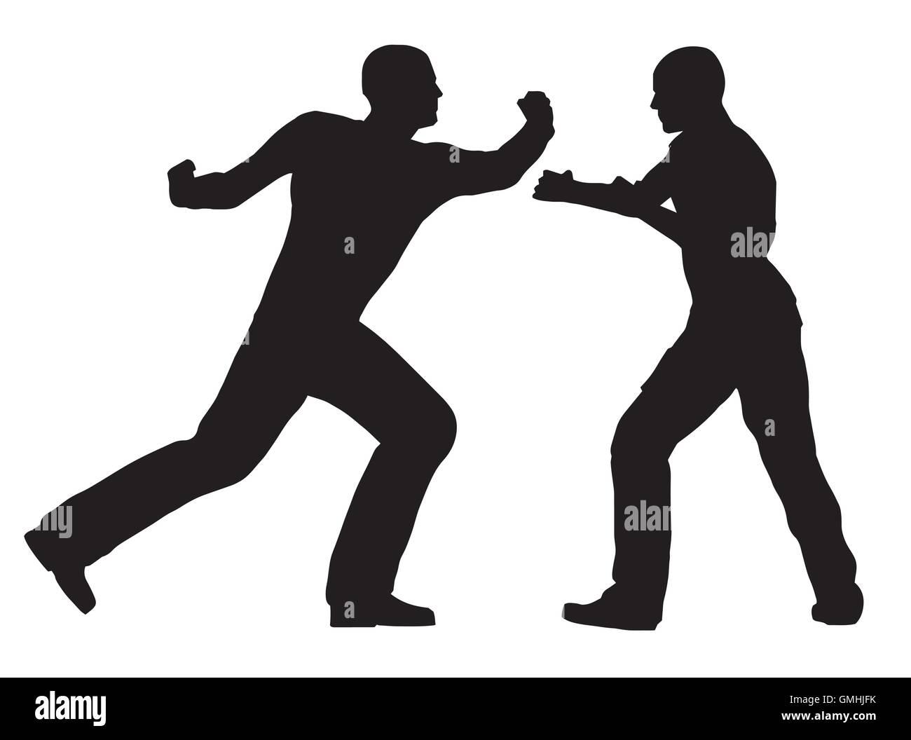 Fight Scene - Stock Vector