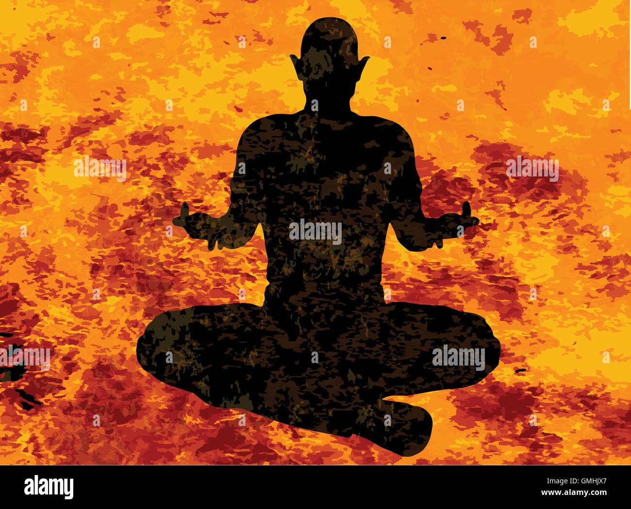 Yoga Floating Pose - Stock Vector