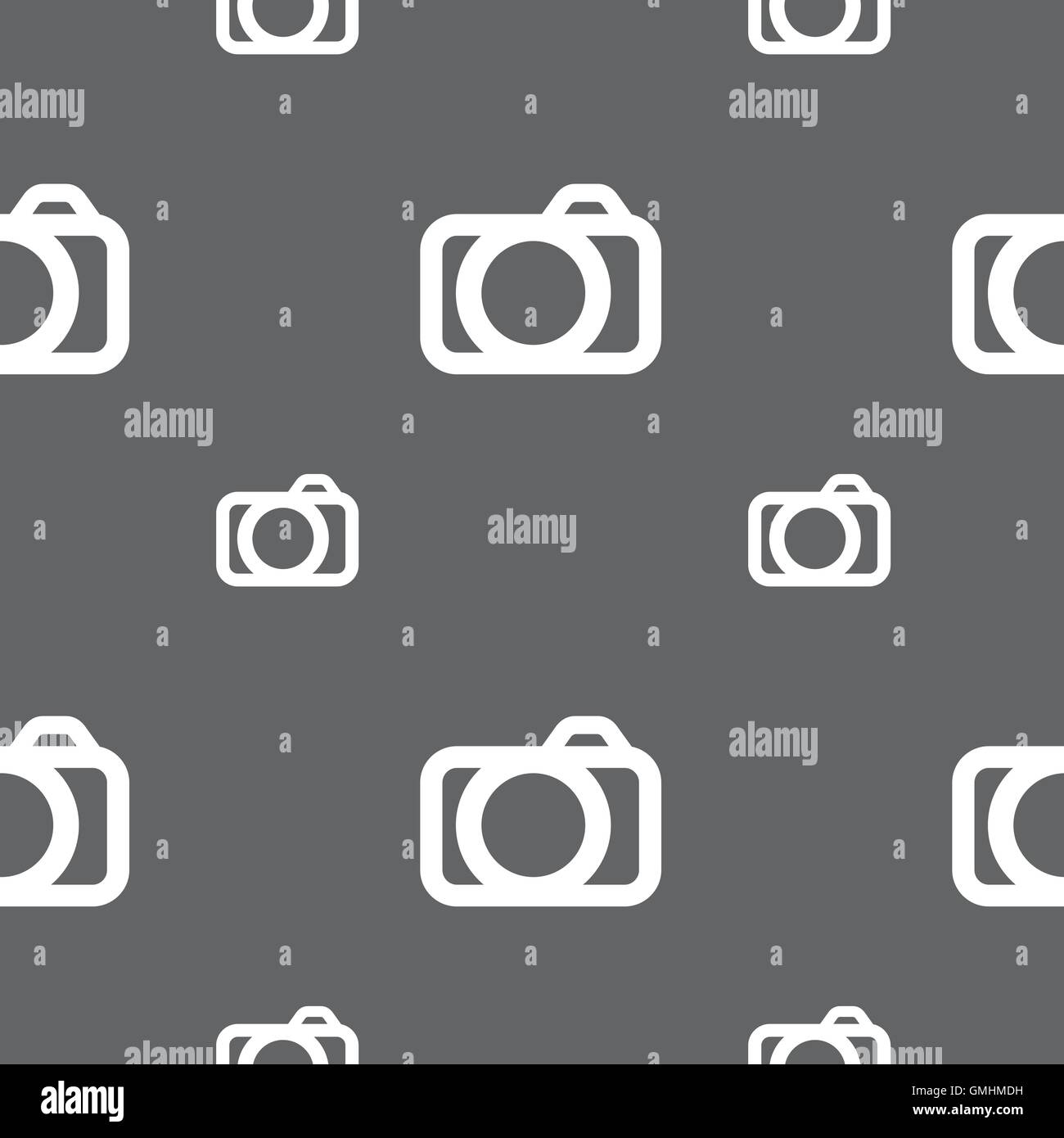 Photo Camera Sign Icon Digital Photo Camera Symbol Seamless