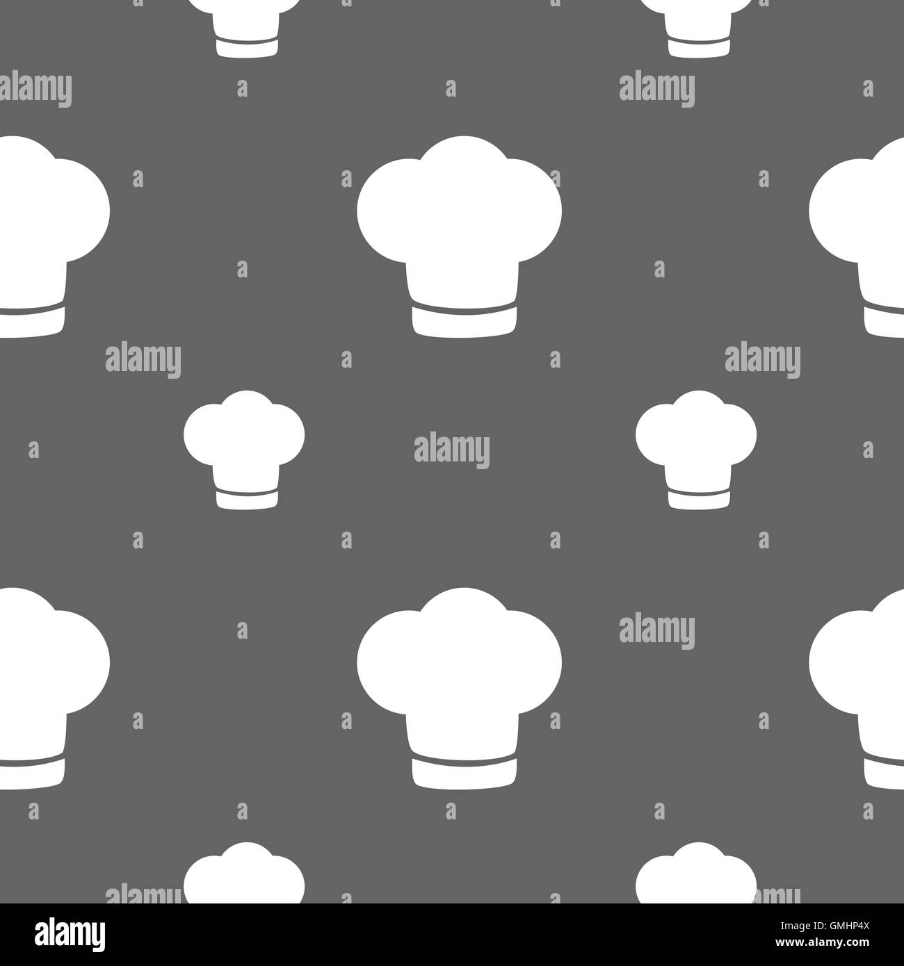 d74ecd650ea Chef hat sign icon. Cooking symbol. Cooks hat. Seamless pattern on a gray  background. Vector