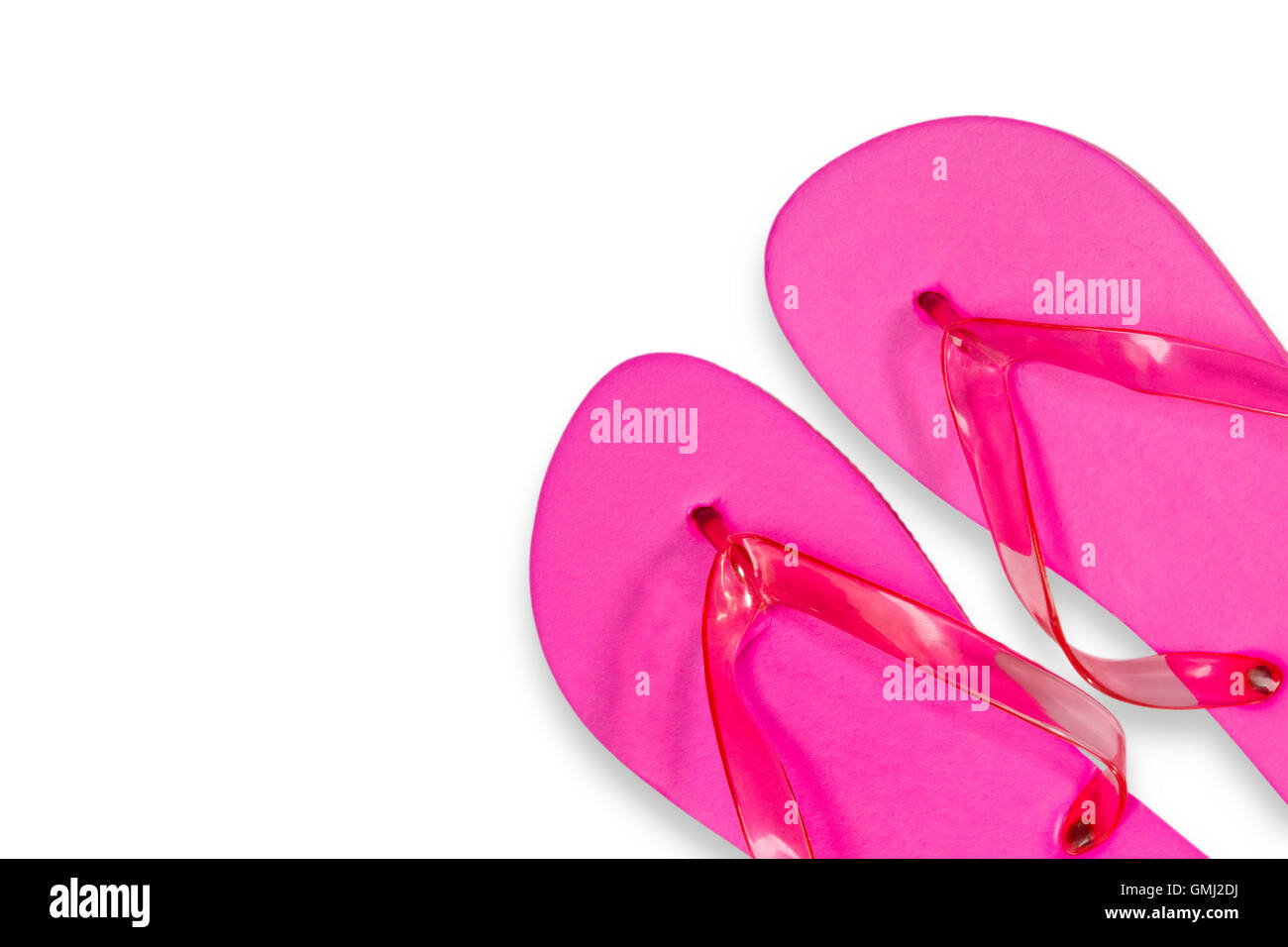 90eab80861b6 Pink Flip Flops isolated on white Background Stock Photo  115952414 ...
