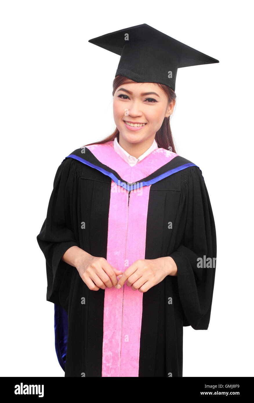 woman with graduation cap and gown Stock Photo: 115957165 - Alamy
