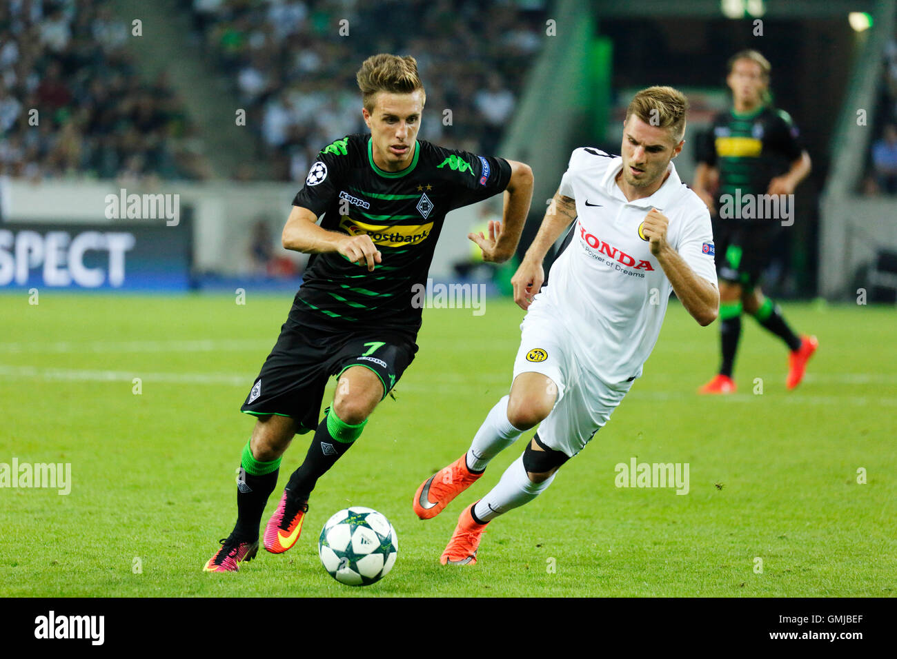 sports, football, UEFA Champions League, 2016/2017, play-offs, 2nd leg, Borussia Moenchengladbach versus Young Boys - Stock Image