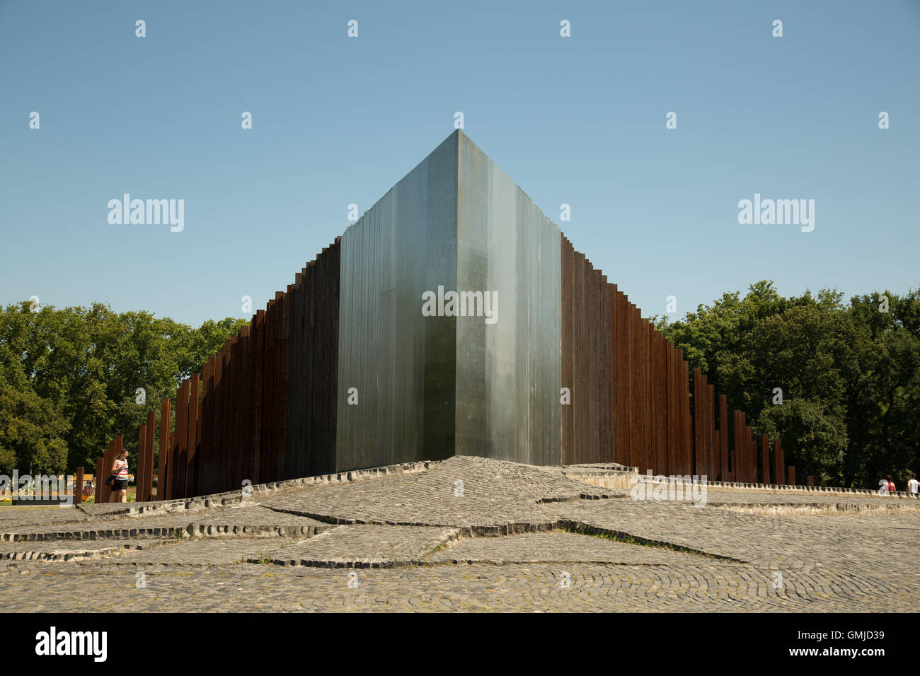Memorial to the 1956 Hungarian Revolution and War of Independence in City Park, Budapest, Hungary - Stock Image