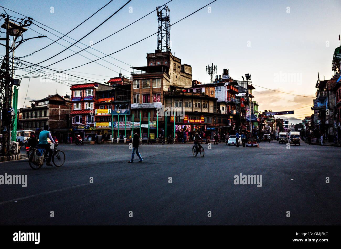 Gaushala chowk, Kathmandu, Nepal - Stock Image