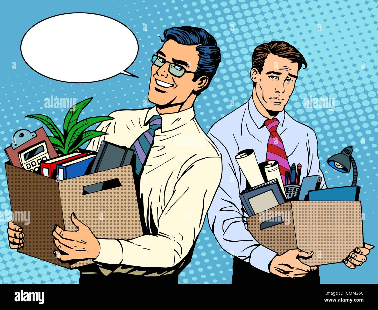job dismissal and employment - Stock Vector