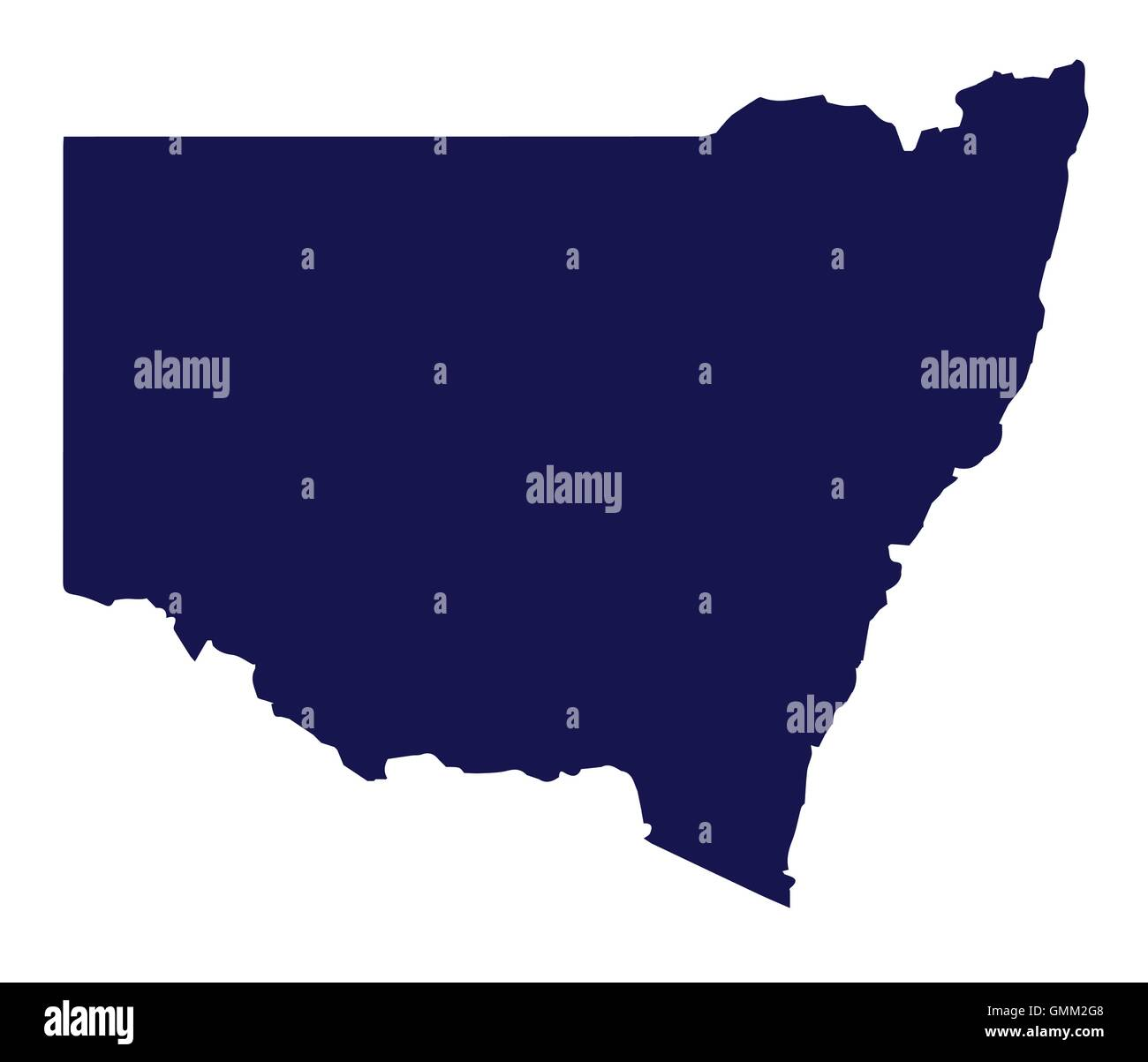 Australia New South Wales State Silhouette - Stock Image