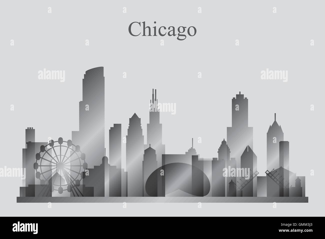 downtown chicago stock vector images alamy