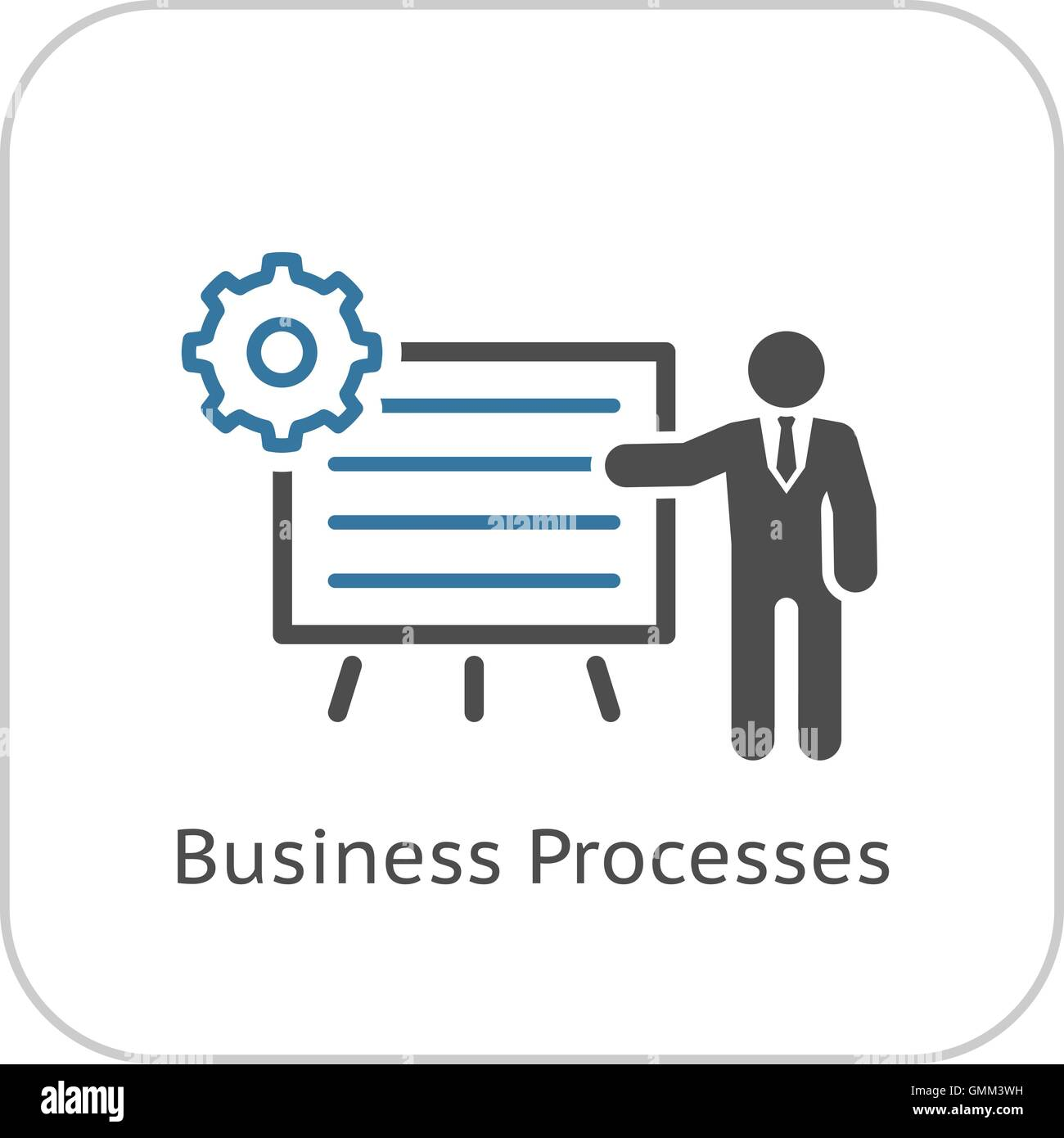 Business Processes Icon. Flat Design. - Stock Image