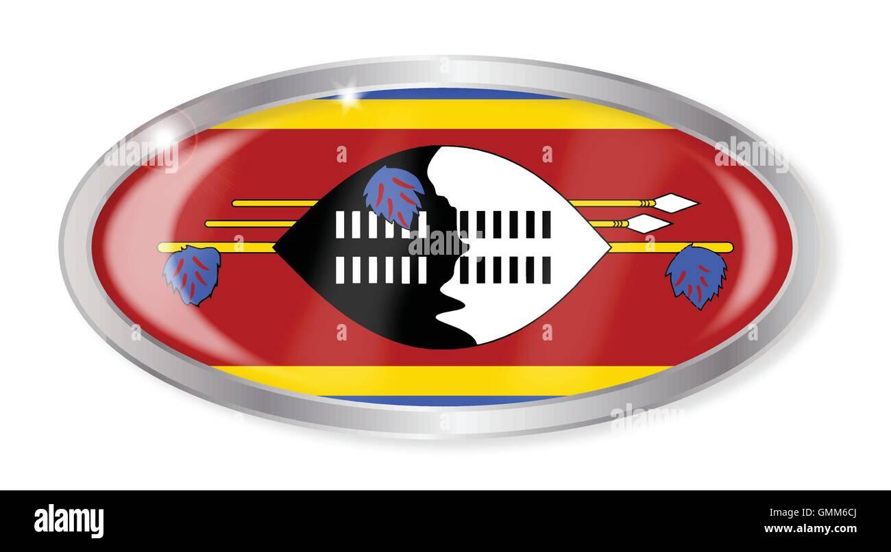 Swaziland Flag Oval Button Stock Vector