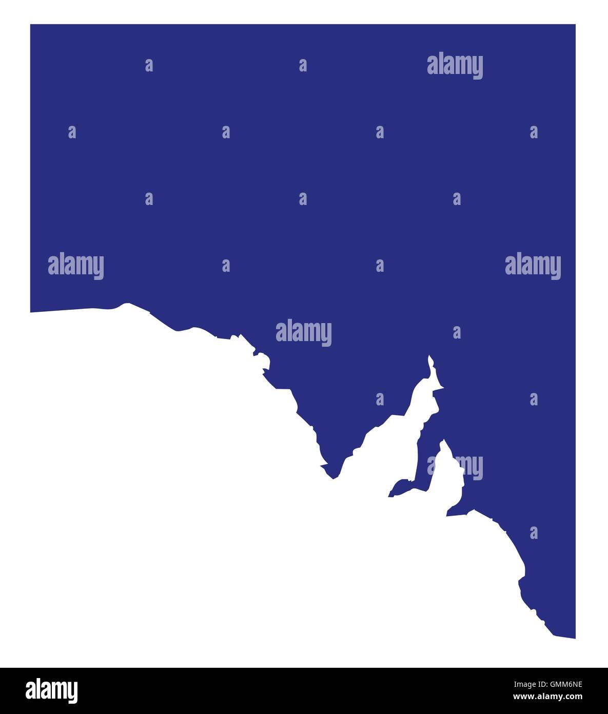 South Australia State Silhouette - Stock Image