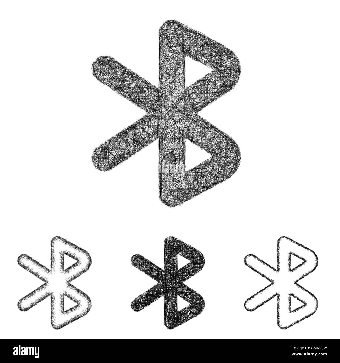 Bluetooth Symbol Black And White Stock Photos Images Alamy