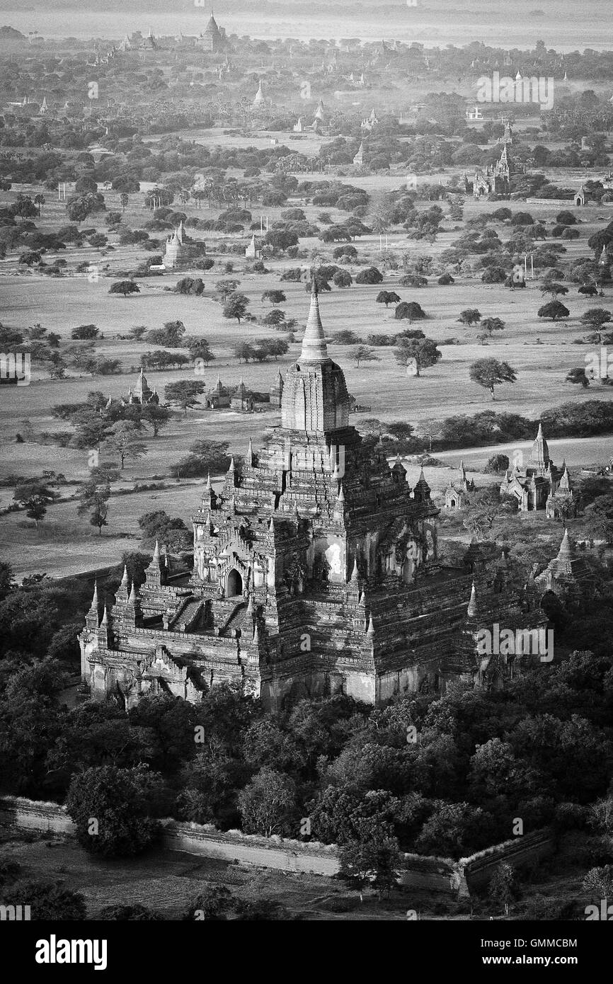 Aerial View of Bagan, Burma (Myanmar) - Stock Image