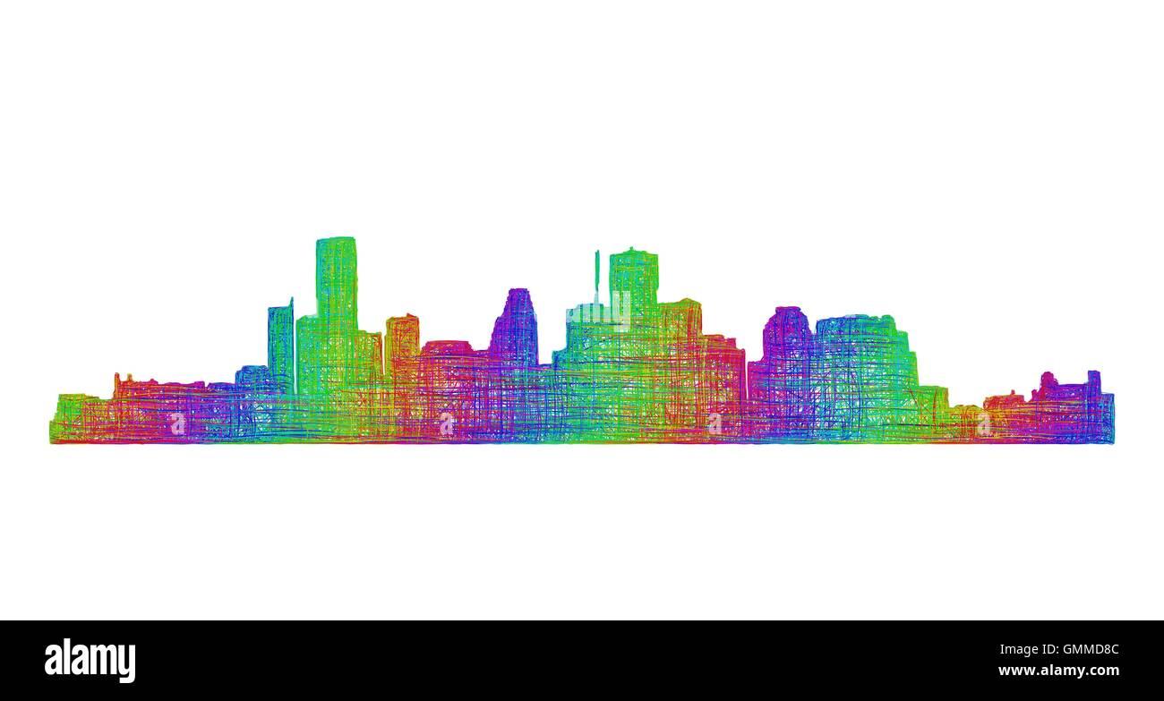 Houston Skyline Cut Out Wiring Diagrams Figure 614sample Diagram Texas Stock Images Pictures Alamy Rh Com Atlanta San Antonio