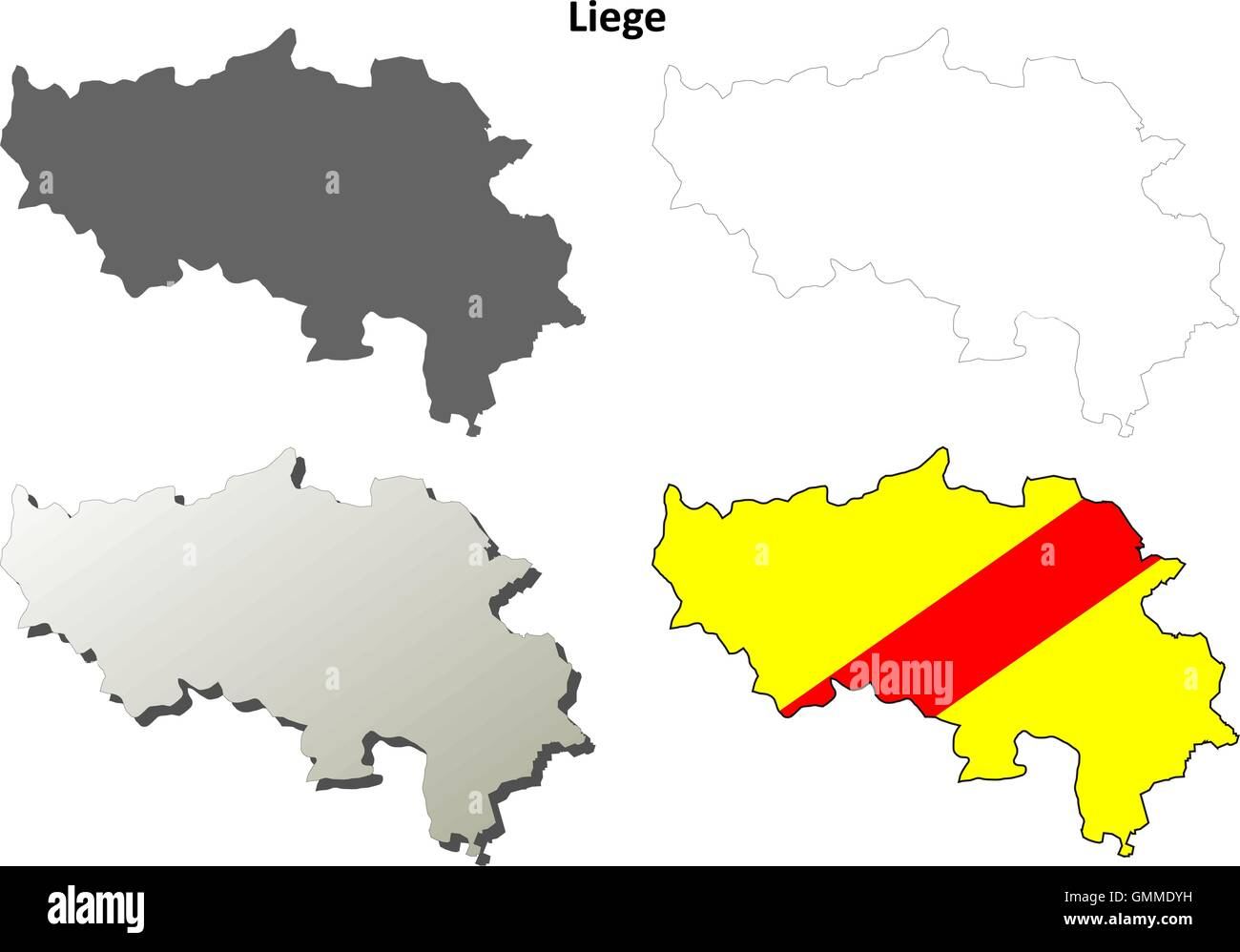 Liege Map Stock Phot