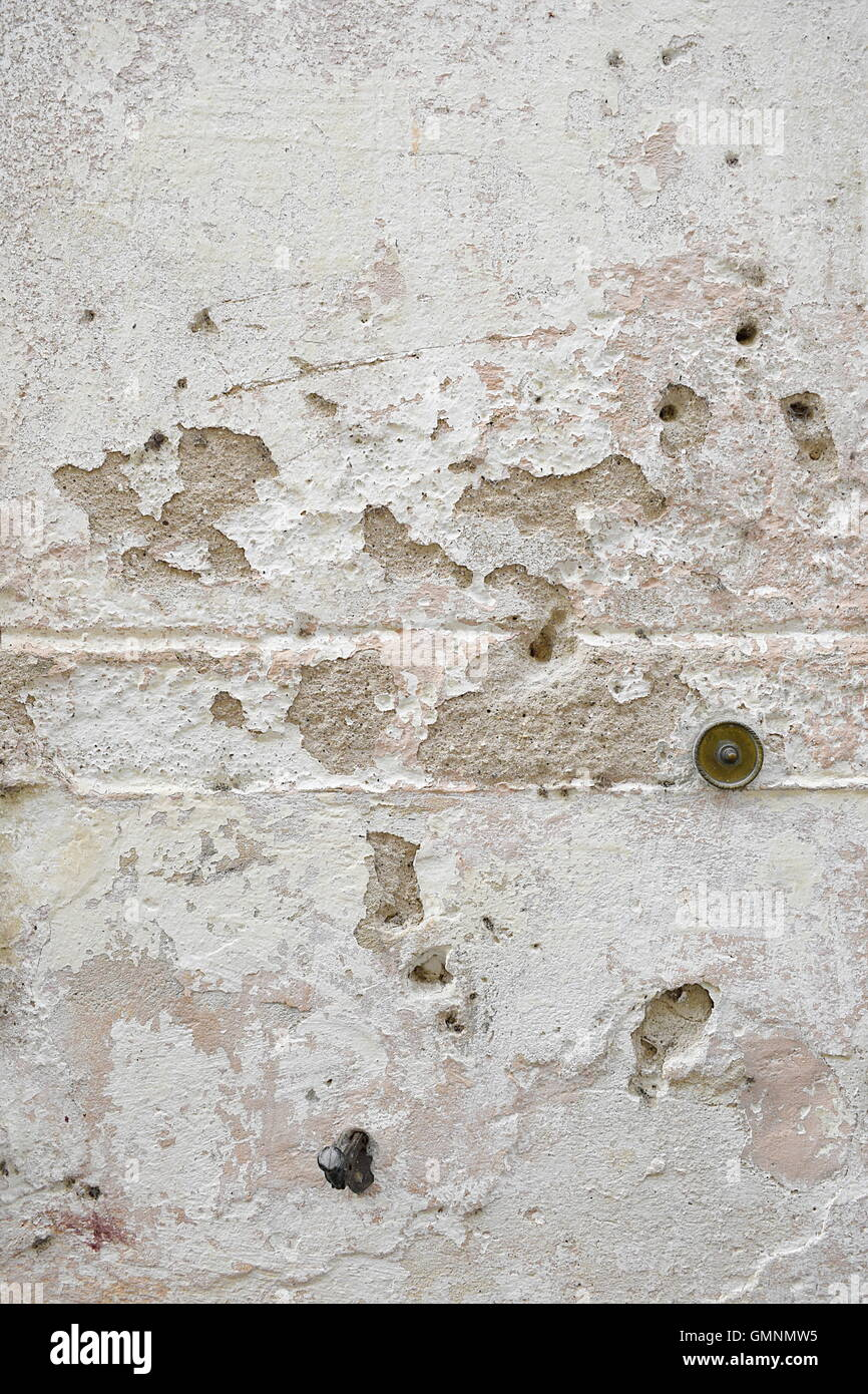 Full frame shot of old weathered concrete wall background Stock Photo