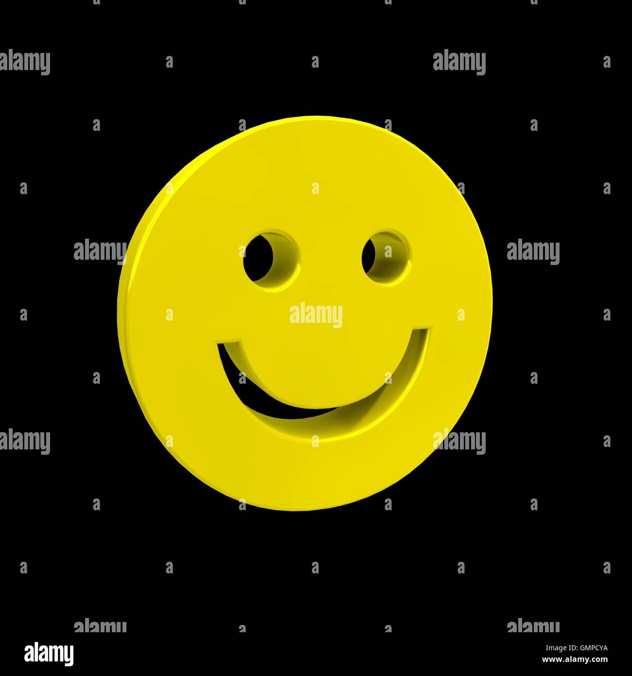 3D Smiley - Stock Image