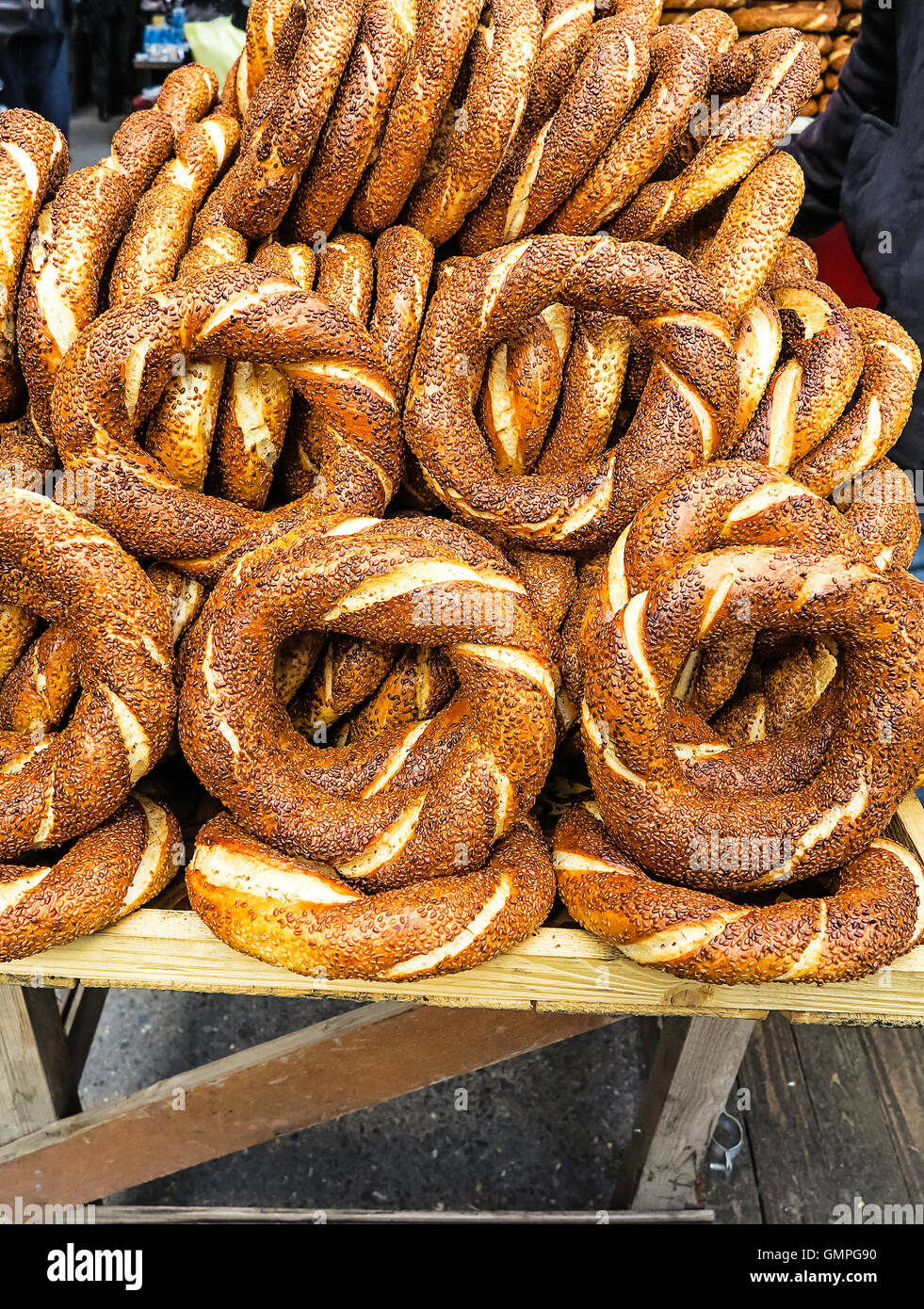 Pretzel -Turkish street food - Stock Image