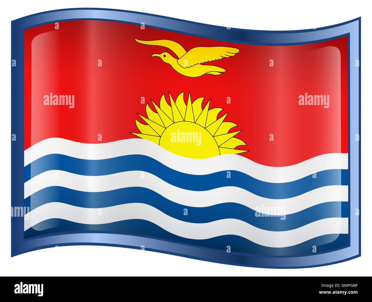 Kiribati Flag icon. - Stock Image