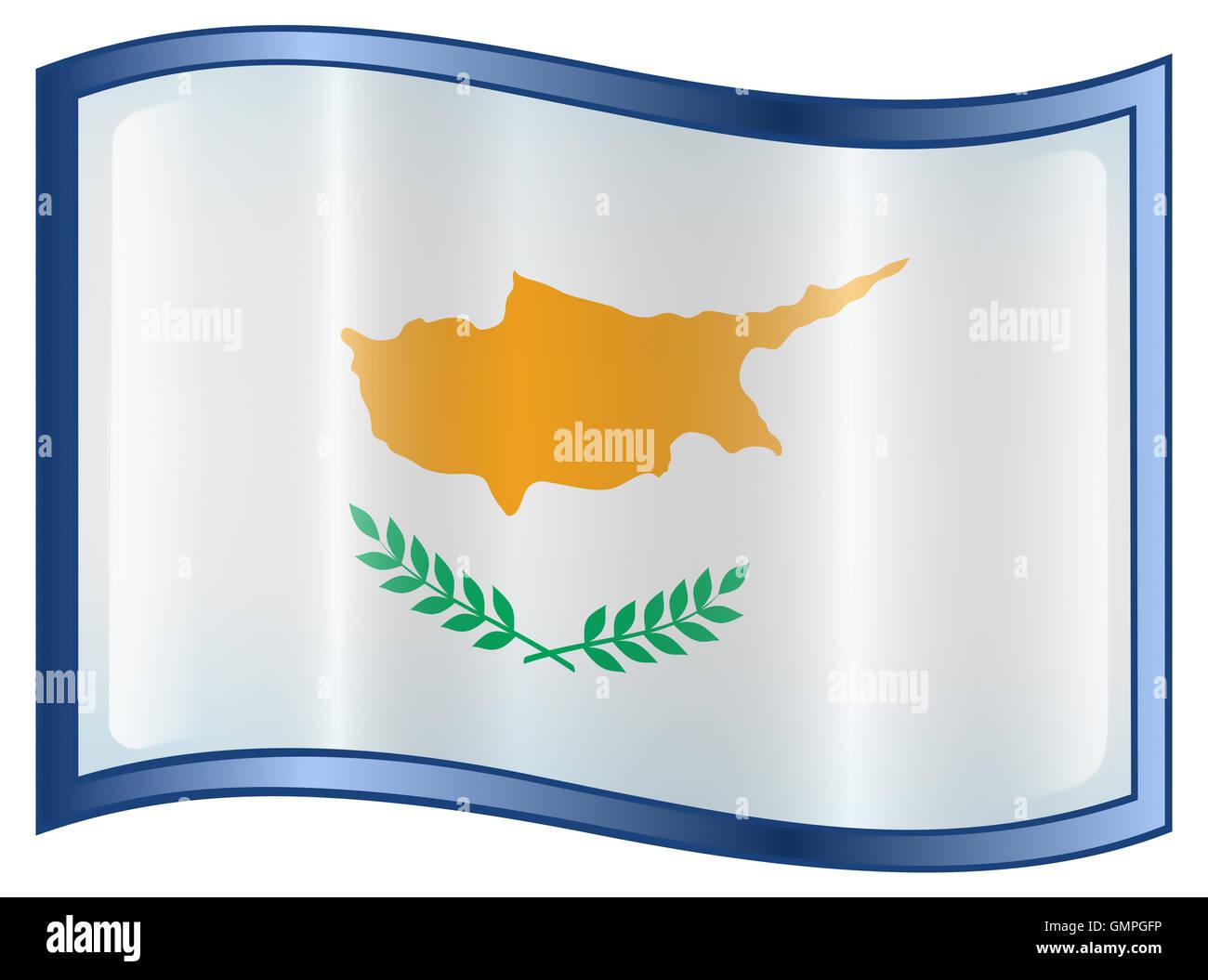 Cyprus Flag Icon - Stock Image