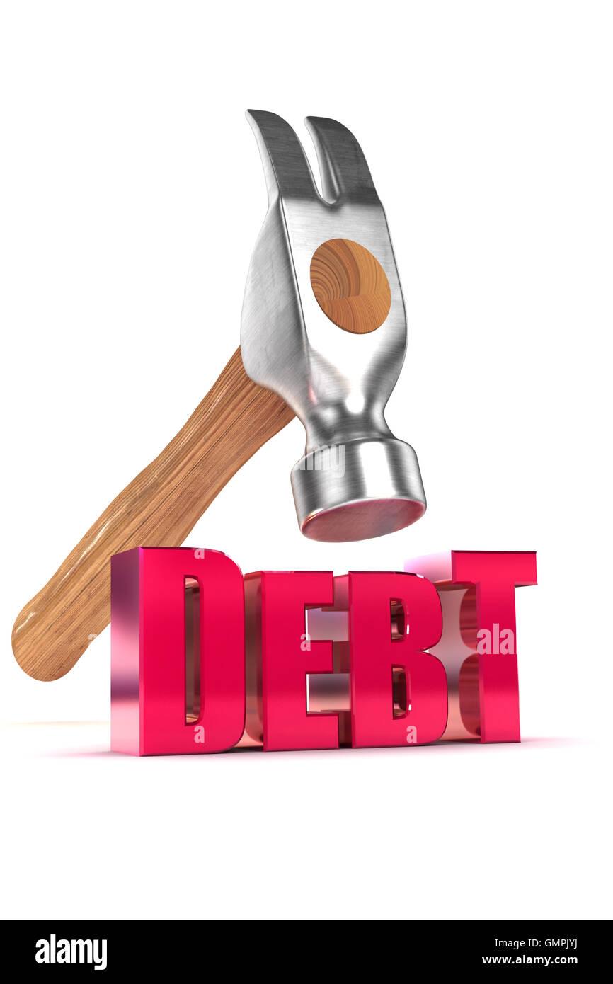 Bringing down Debt Stock Photo