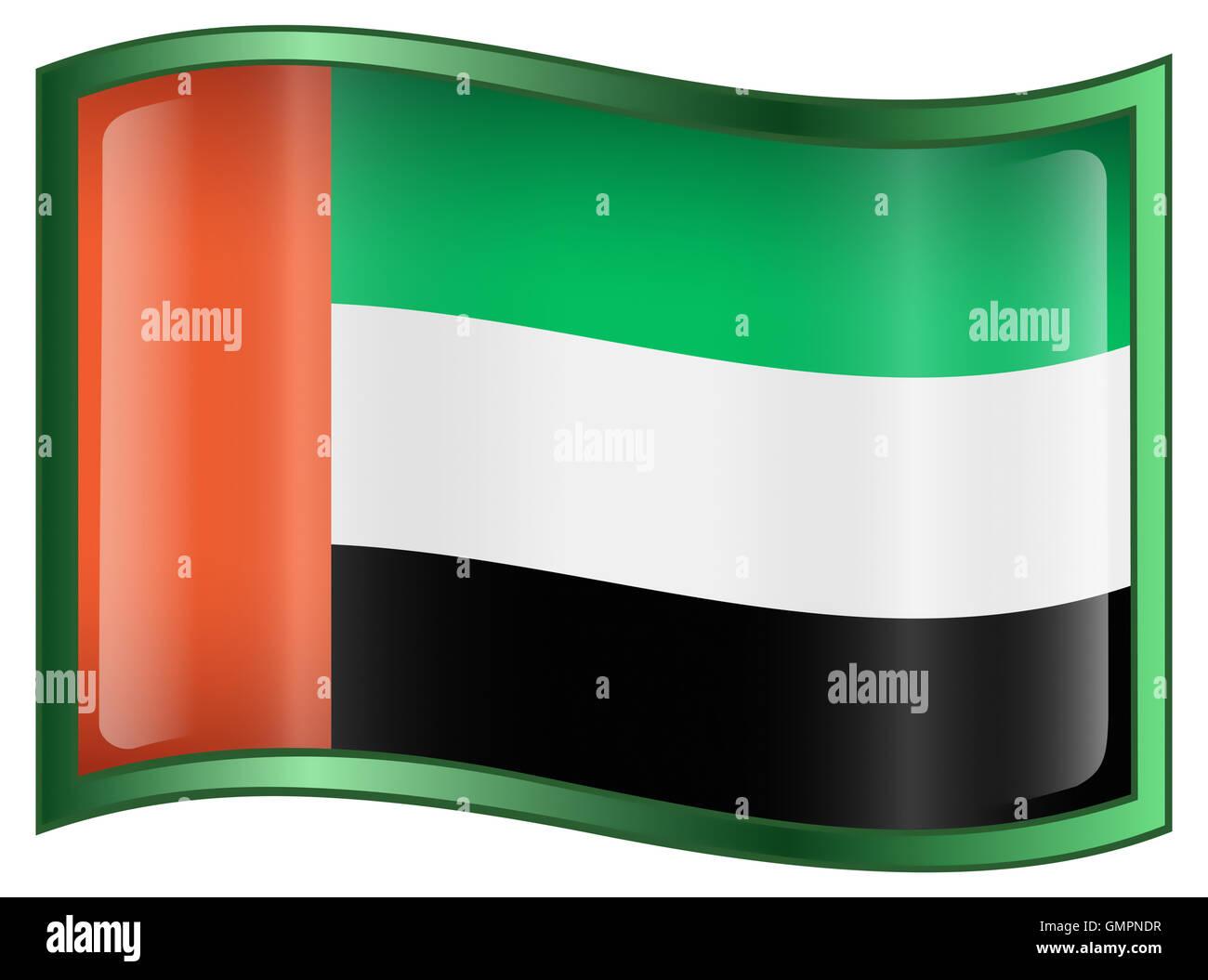 United Arab Emirates Flag Icon - Stock Image