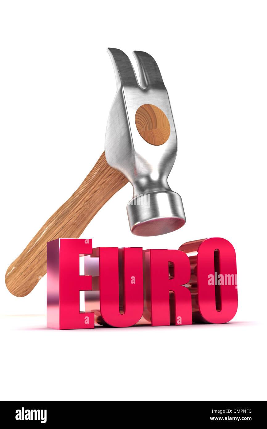 Euro Debt Concept - Stock Image