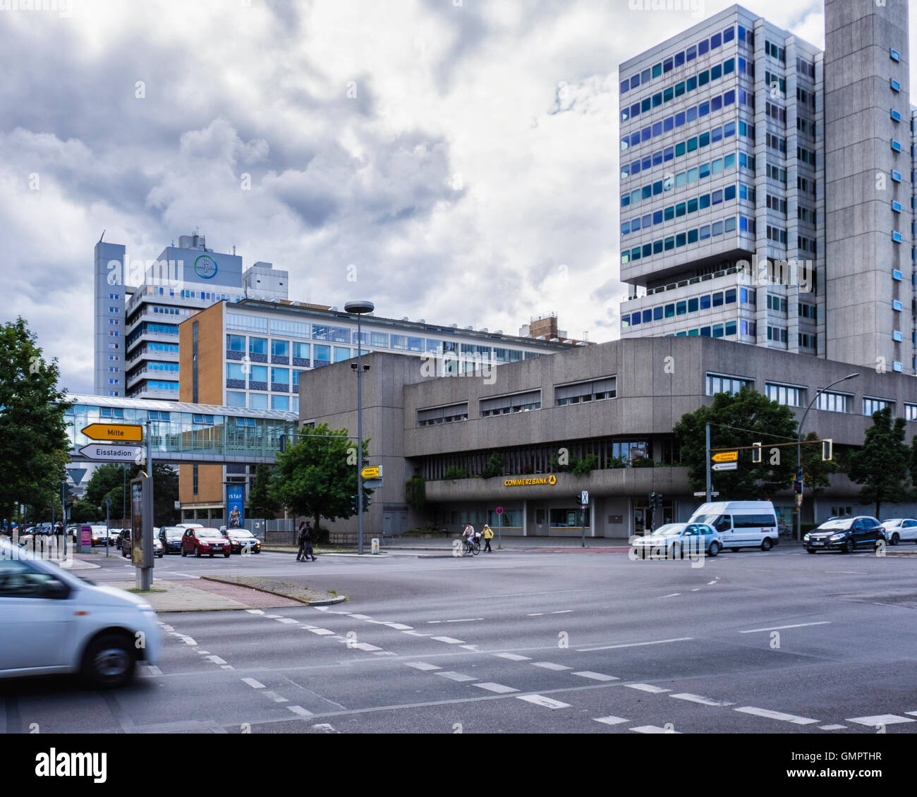 Berlin, Germany. Bayer Pharma AG building exterior. Pharmaceutical company offices and laboratories. - Stock Image