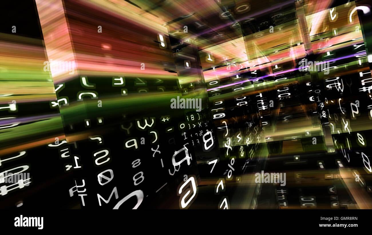 Futuristic Digital Technology Screen Display 10985 - Stock Image