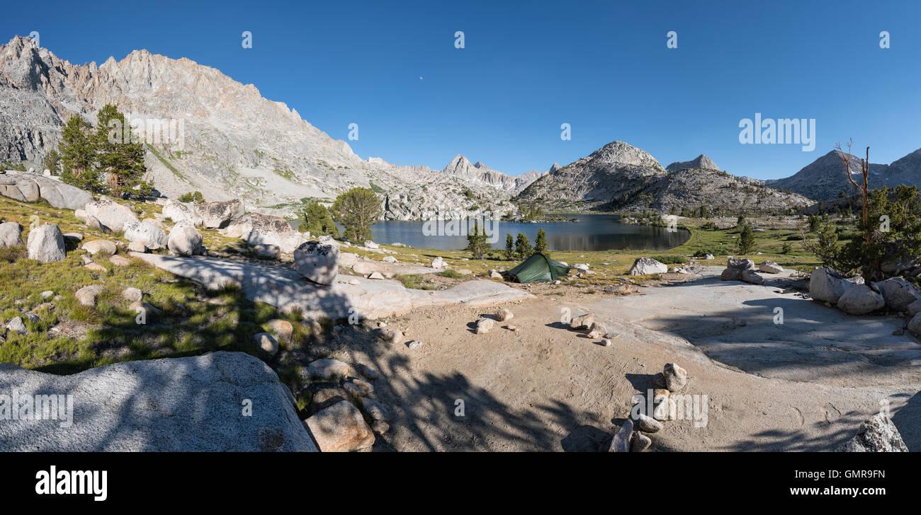 Evolution Lake, Kings Canyon National Park, California, United States of America, North America - Stock Image