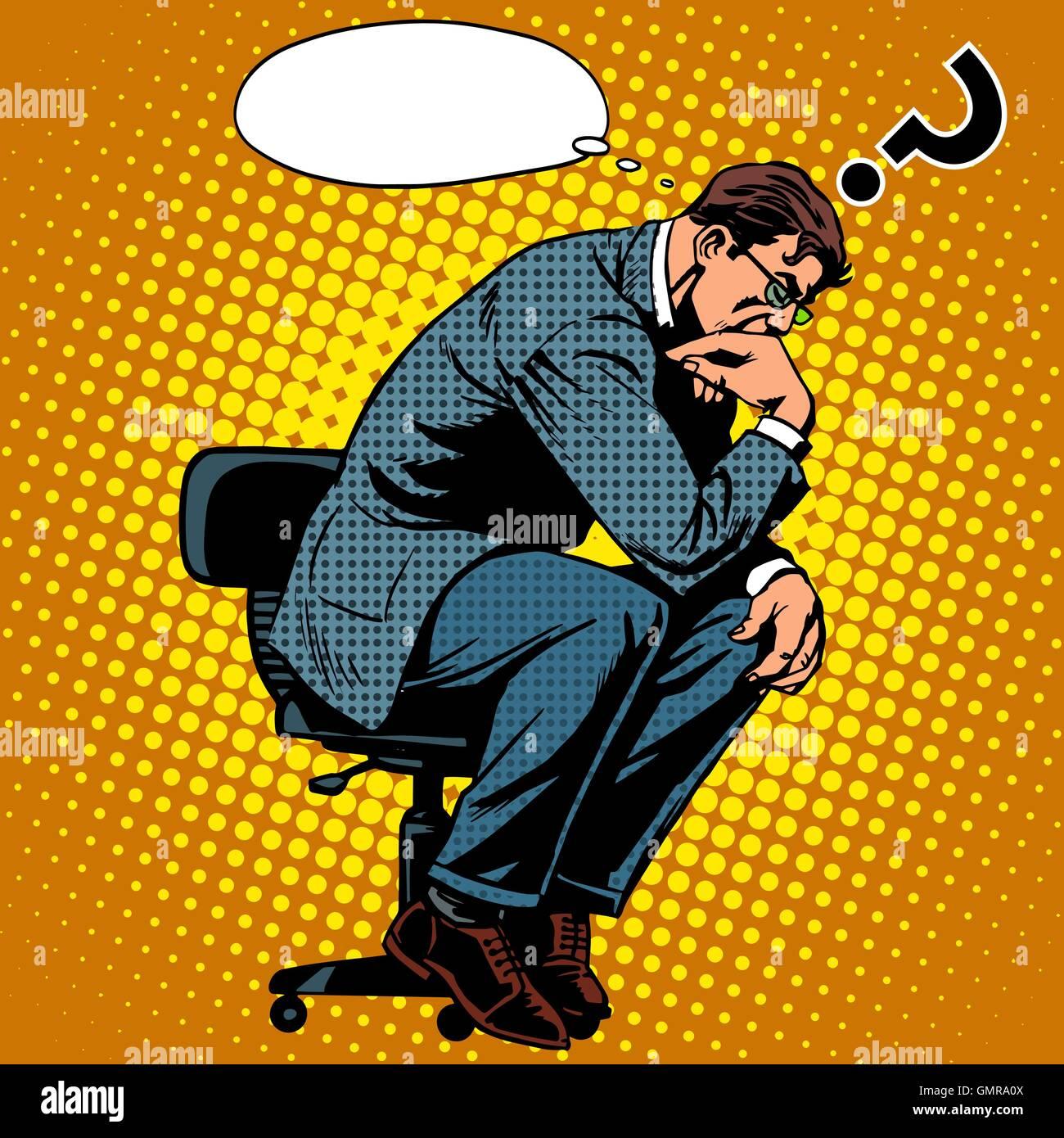 Thinker businessman business concept - Stock Vector