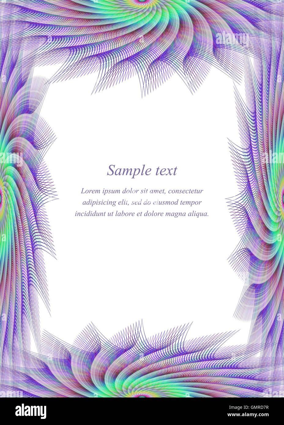 Colored page border design template Stock Vector Art