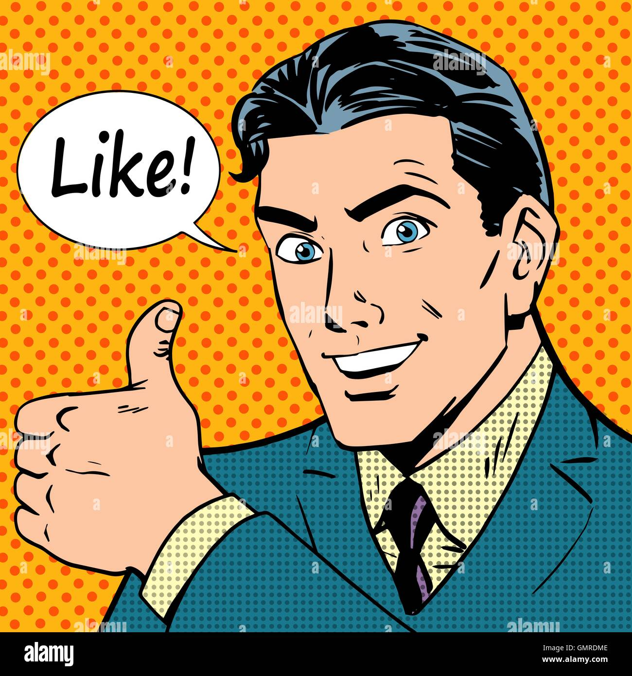 like button successful businessman social network - Stock Vector