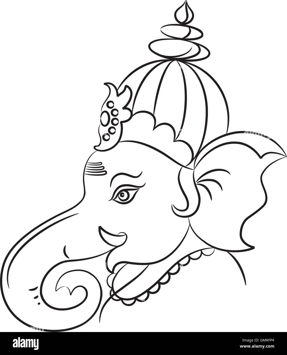 Ganesha the lord of wisdom stock image