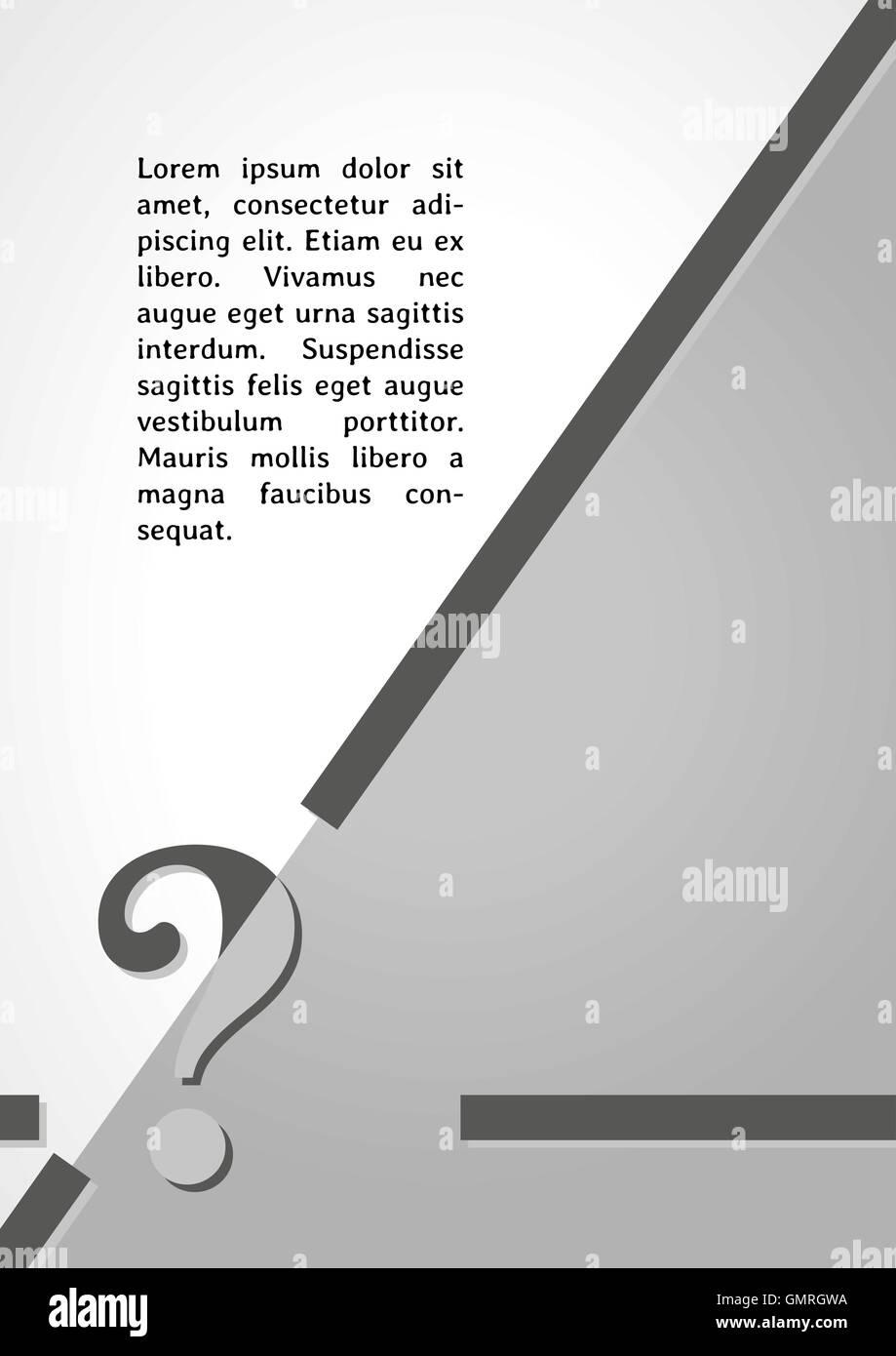 Vector Infographic Template Question Mark Stock Photos & Vector ...