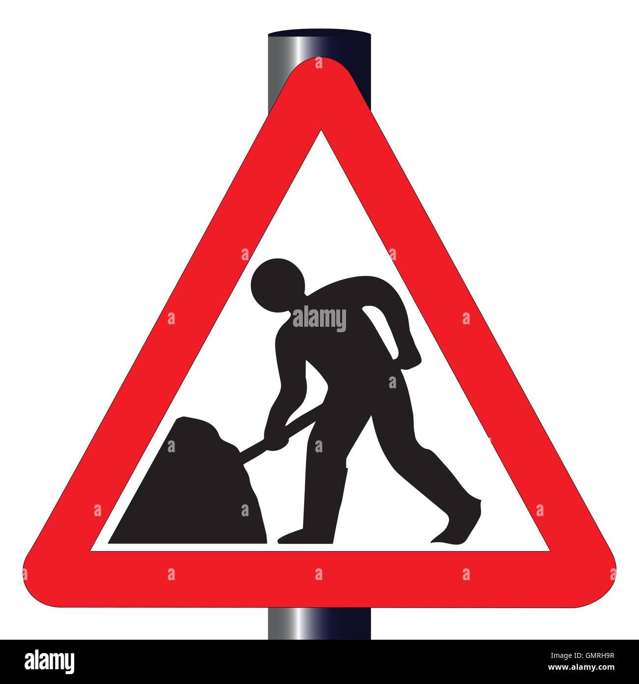 Roadworks Traffic Sign - Stock Vector