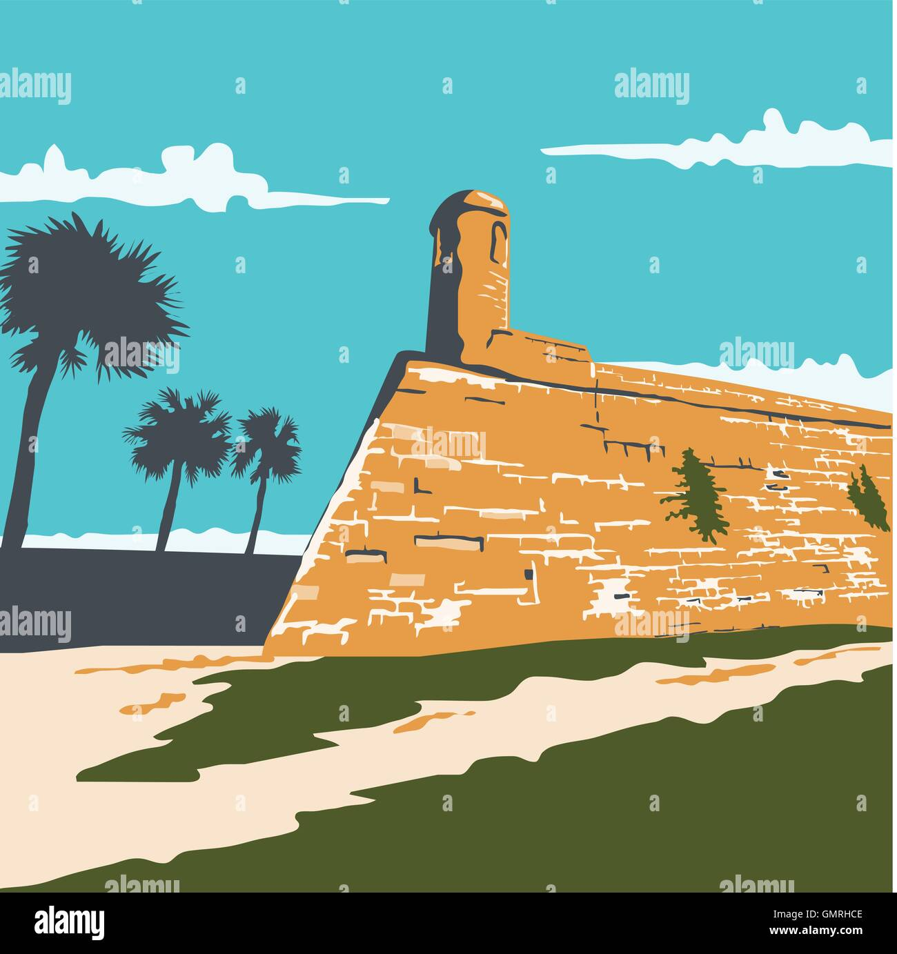 Fort Marion St. Augustine WPA - Stock Vector