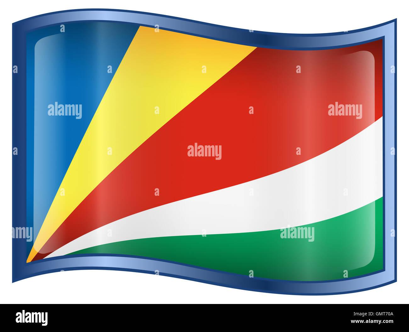 Seychelles Flag icon. - Stock Image