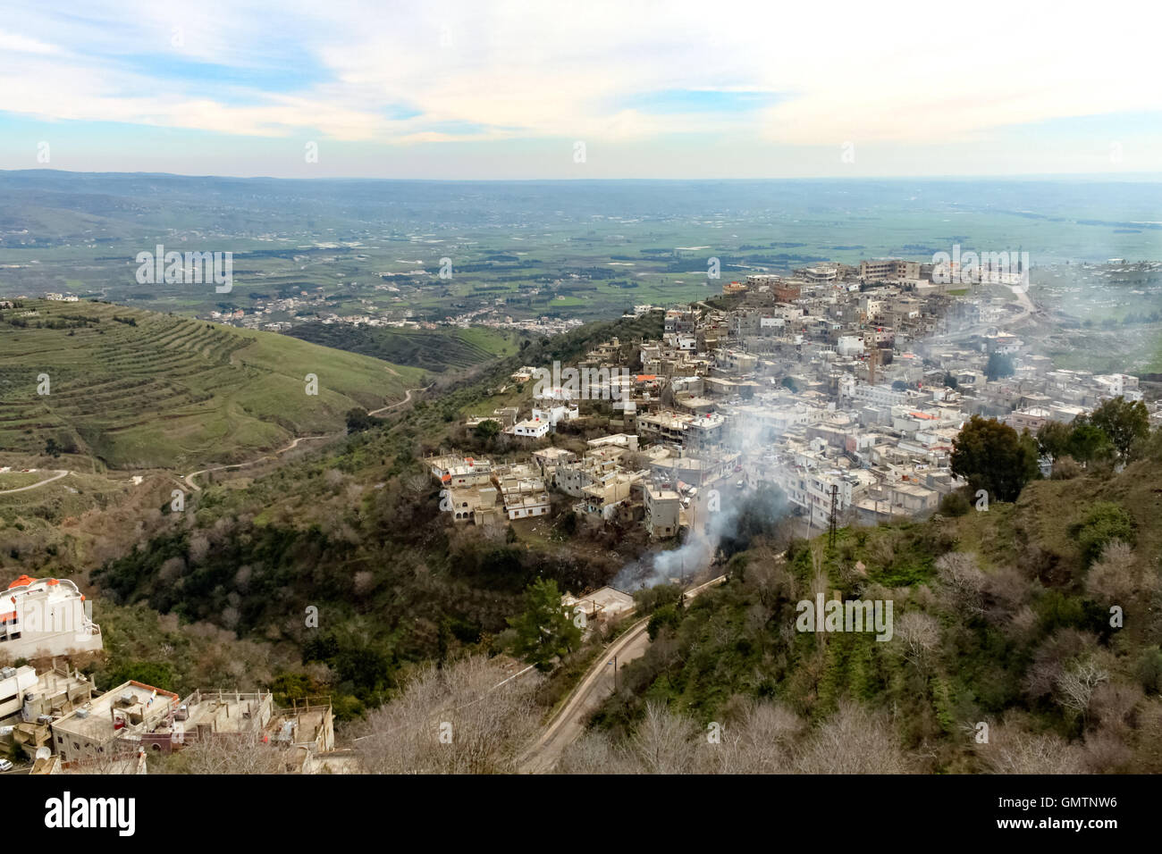 View from Krak des Chevaliers - Stock Image
