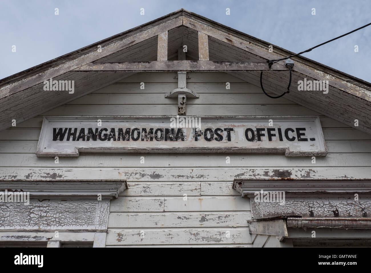 Whangamomona post office Taranaki, North Island, New Zealand. - Stock Image
