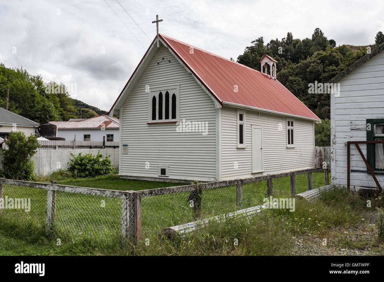 St John's Anglican Church, Whangamomona, Taranaki, North Island, New Zealand. - Stock Image