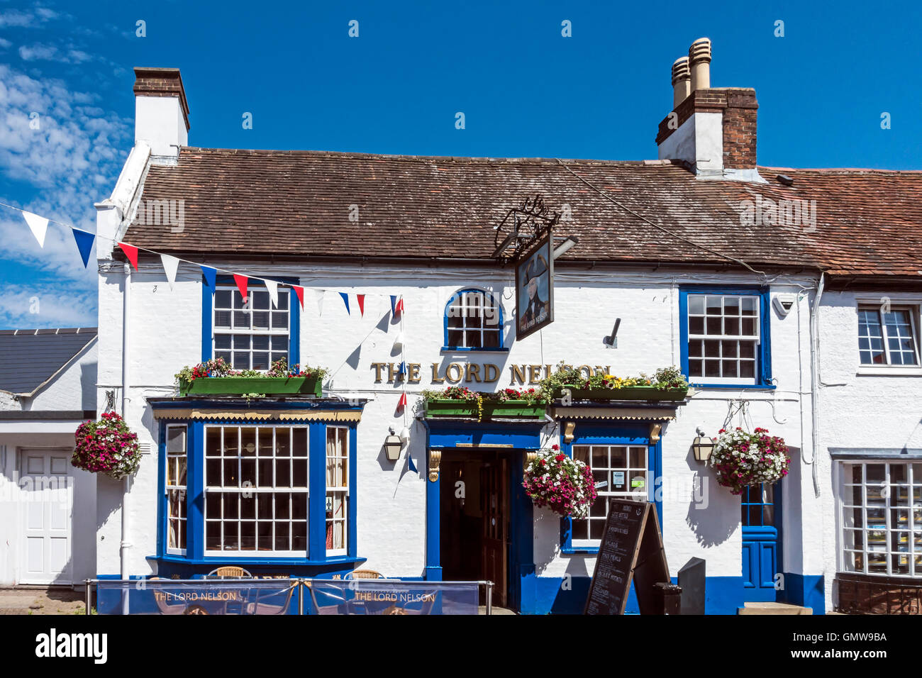 The Lord Nelson pub in High Street Hythe Southampton England - Stock Image