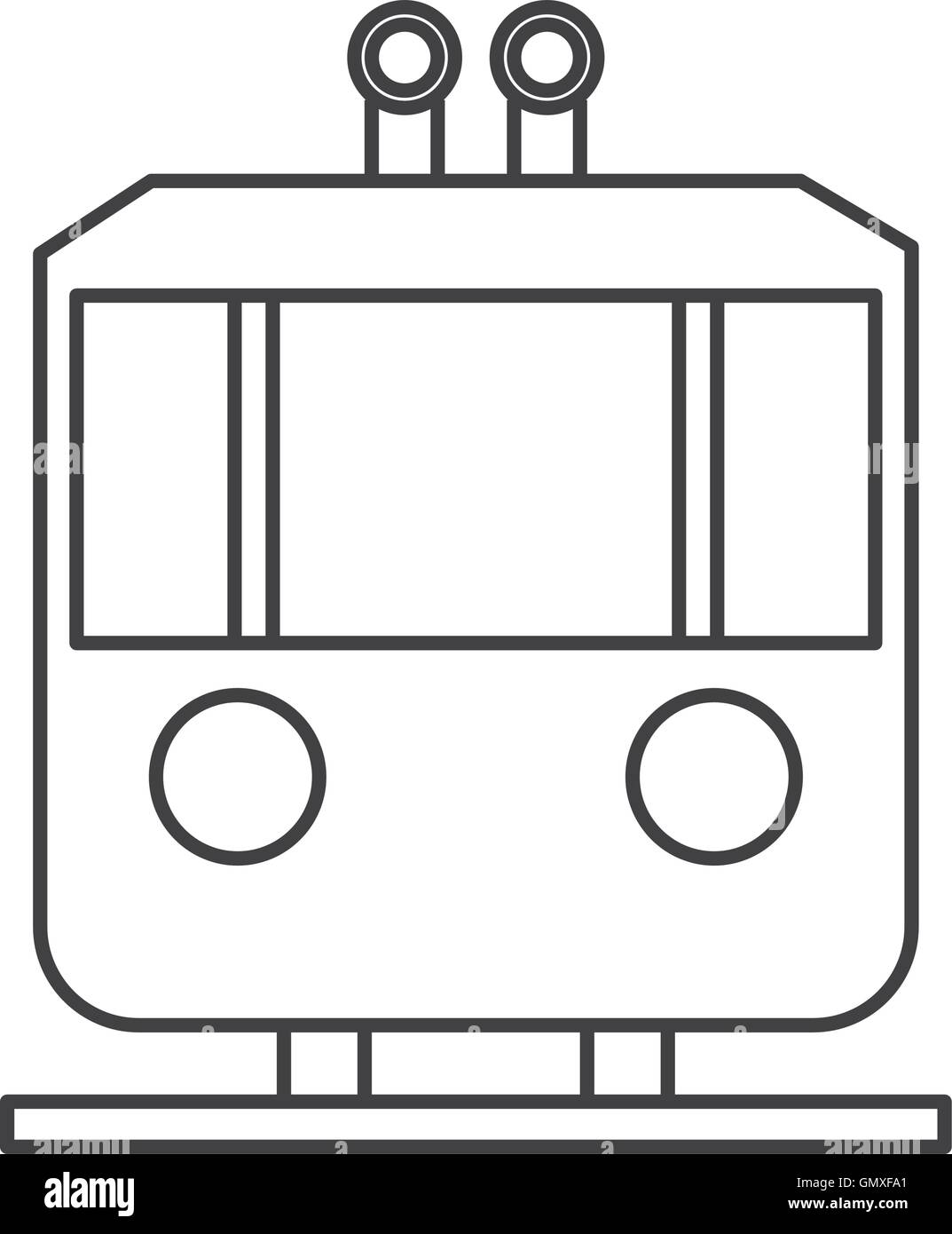 tramway frontview icon - Stock Vector