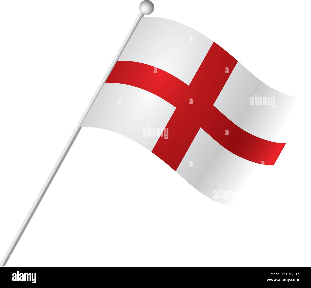 Isolated flag of England, Vector illustration - Stock Vector