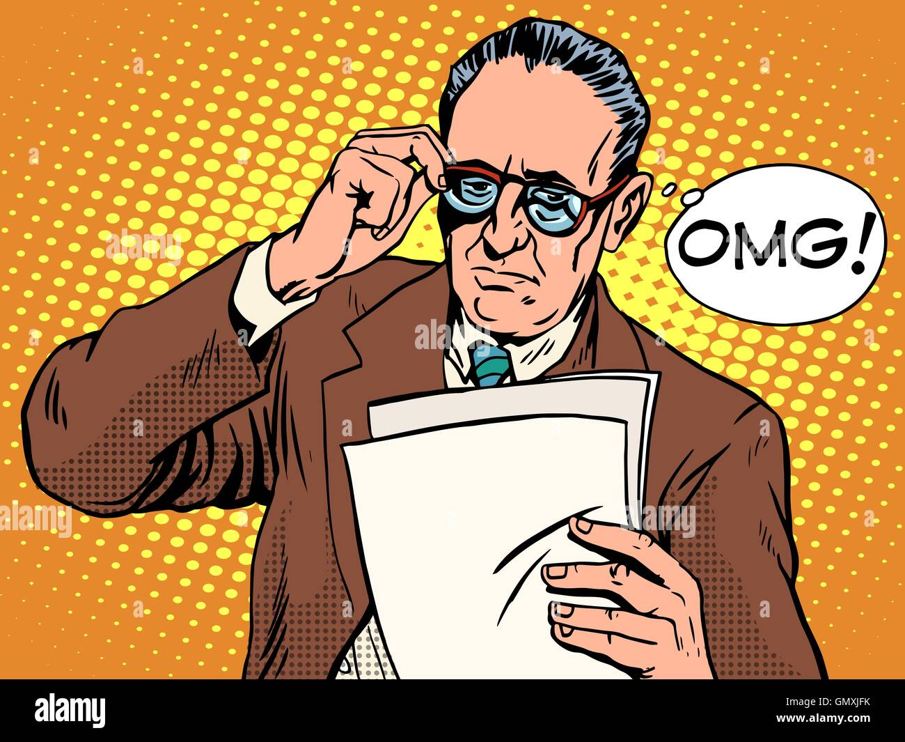 OMG surprised boss business concept - Stock Vector